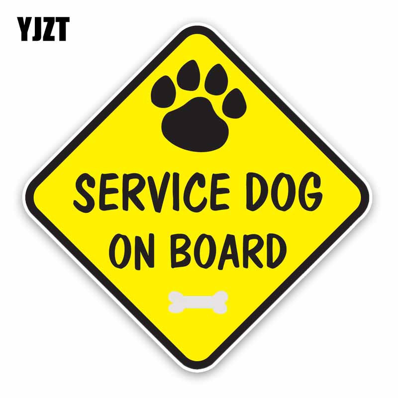 YJZT 15.1*15.1CM Interesting BABY ON BOARD SERVICE DOG ON BOARD STICKER, Decoration Graphic Car Sticker C1-5642 ...