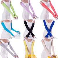 Guantes de algodón para mujer y niña, manoplas largas sin dedos, accesorios de ropa de moda, 20 colores, 1 par
