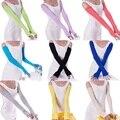 1 par 20 Cores Acolhedor Menina Das Mulheres algodão Longo Luvas Sem Dedos Arm Warmer Moda roupas e acessórios