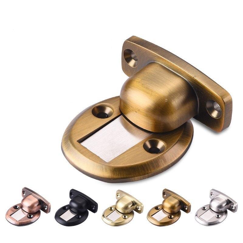 Us 18 22 25 Off Dual Purpose Self Adhesive Door Stopper Windows Protecter Magnet Stop Hidden Floor Mounted Furniture Hardware In