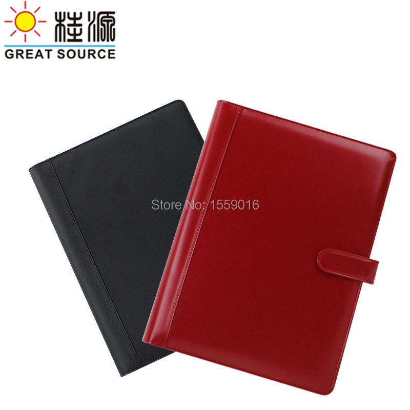 Manager File Portfolio Leather Compendium Folder  A4 Rings Binder Document Folder With Calculator