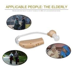 UNS Stecker Aufladbare Kunststoff Hörgeräte Ton Stimme Verstärker Hinter Dem Ohr UNS Stecker JZ-1088F Für Die Ältere Hörgerät