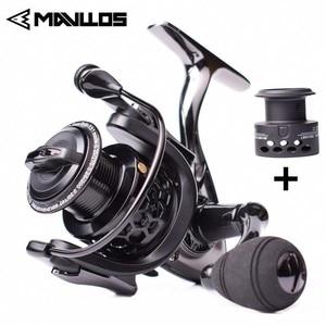 Image 1 - Mavllos Carp Fishing Spinning Reel 14+1BB Speed Ratio 5.5:1 1000 2000 3000 7000 Double Spool Metal Saltwater Boat Fishing Reel