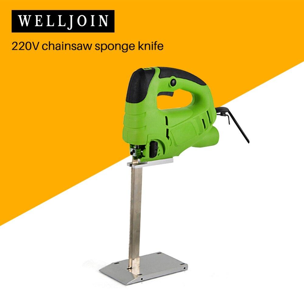 220V scie électrique éponge coupe mousse caoutchouc scie alternative 200mm
