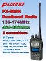 Nueva PUXING PX-888K PX jamón CB de radio de banda dual UHF y VHF 5 w de dos vías transceptor de radio walkie talkie puxing 888 k policía equipo