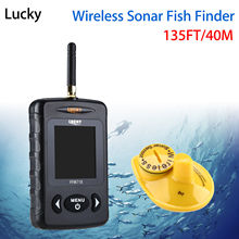 Lucky FFW718 Wireless Fish Finder Underwater 40M/120FT w/Alarm Sonar Depth Sounder Alarm Fishfinder Ocean River Lake Sea Fishing
