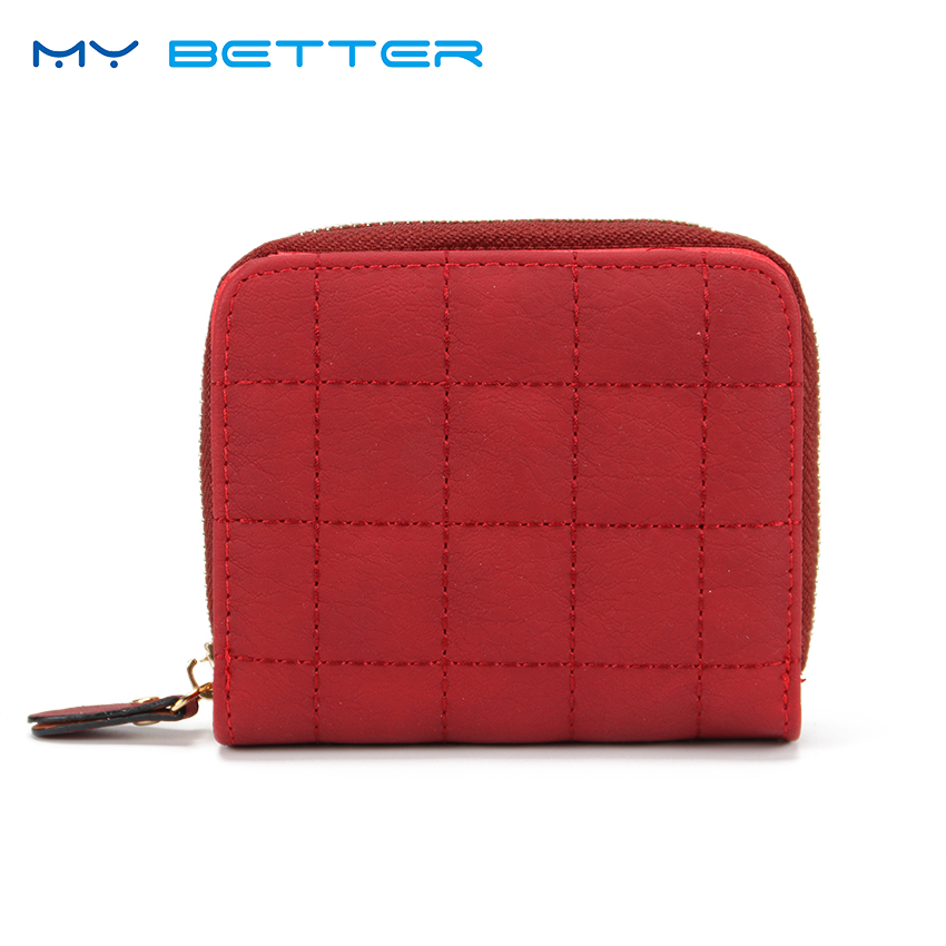Women Short Wallets PU Leather Female Plaid Purses Card Holder Wallet Fashion Girl Small Zipper Wallet Coin Purse samplaner fashion women wallets small purse female pu leather purse ladies card holder coin purse girls short wallet portemonnee