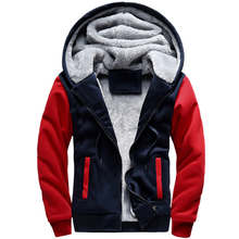 Monochrome 2017 New Winter Plus Velvet Men Hoodies Sweatshirts Hooded Jacket Thicken Warm Casual Mens Cardigan Big Size 5XL