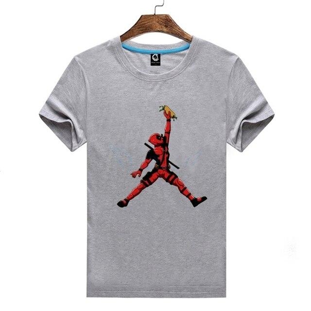 0877123fd4b6 2018 Deadpool Jordan Tee T-shirt Man Casual Short Sleeve T Shirts 100%  Cotton For Fans