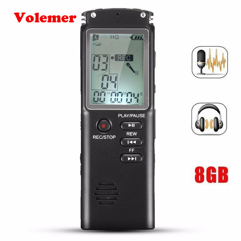 Digital Voice Recorder Volemer 8 Gb/16 Gb/32 Gb Voice Recorder Pen 2 In 1 Professionelle Diktiergerät Digital Audio Voice Sound Recorder Mit Wav Mp3 Player