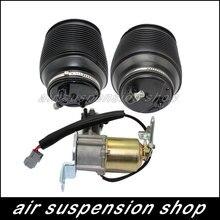 1 conjunto saco de mola de ar e compressor de Gás choque traseiro suspensão a Ar bomba para Toyota Land Cruiser Prado 120 Lexus GX470 4808035011