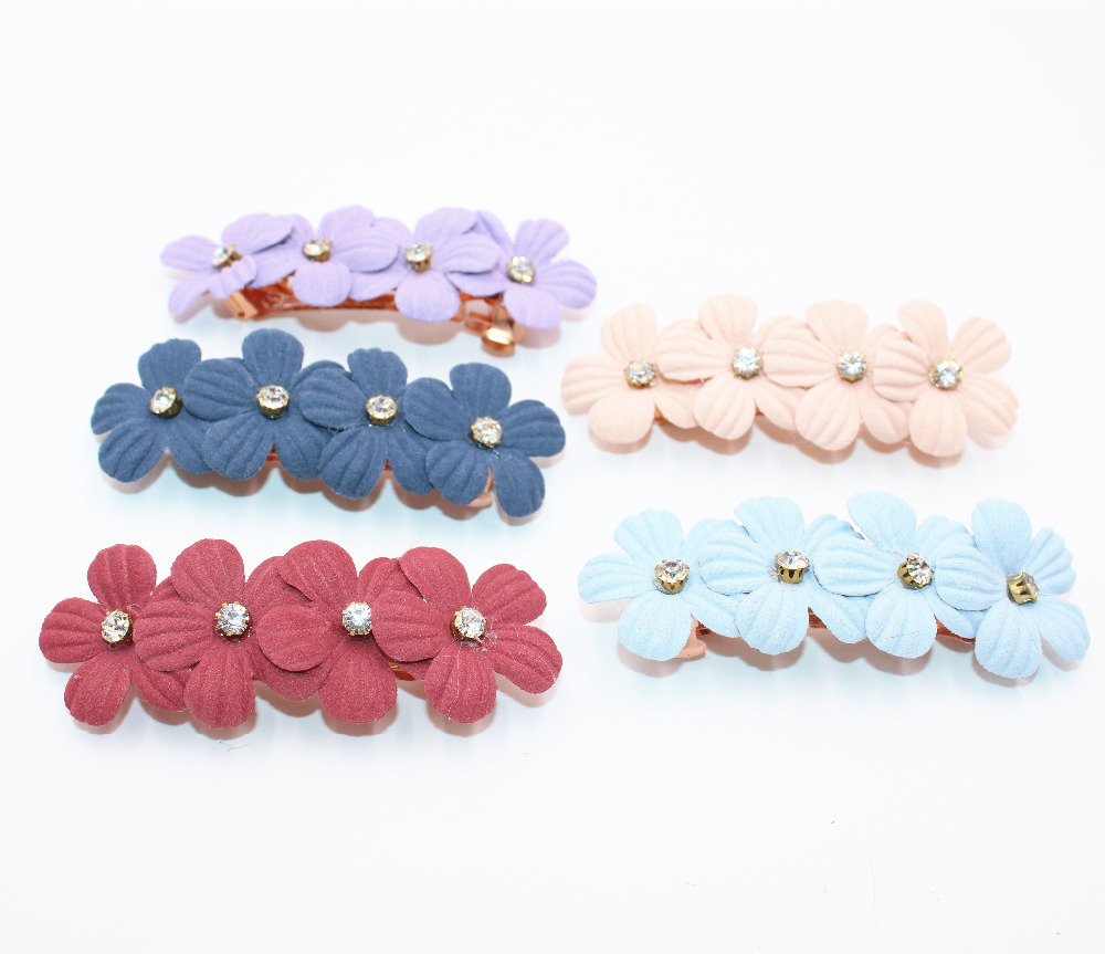 2Pes lot Girls Hair Clip Band Hairpins Kids Flowers Barrettes Fashion Gift Hair Accessories