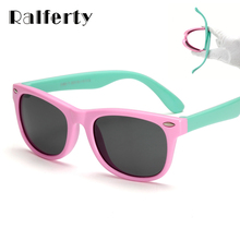 Ralferty TR90 Flexible Kids Sunglasses Polarized Child Baby Safety Coating Sun Glasses UV400 Eyewear Shades Infant oculos de sol