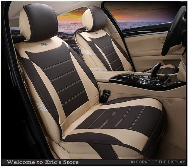 buy luxury car seat cover set standard auto accessories covers fit 5 seats cars. Black Bedroom Furniture Sets. Home Design Ideas