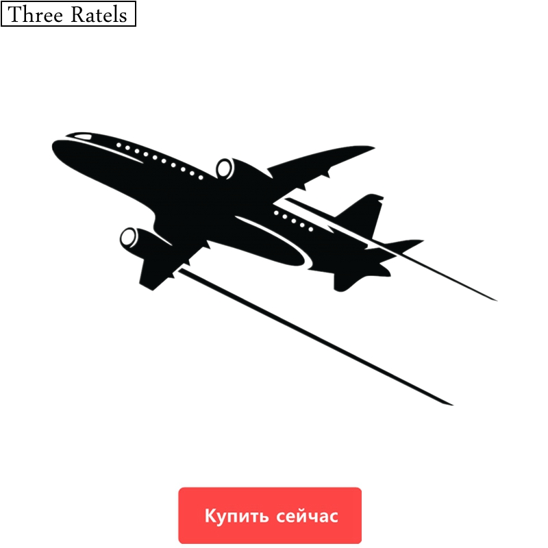 Three Ratels TZ-351 20*12.26cm 1-5  Pieces Airplane Aircraft Decals Car Sticker Wall Laptop Stickers
