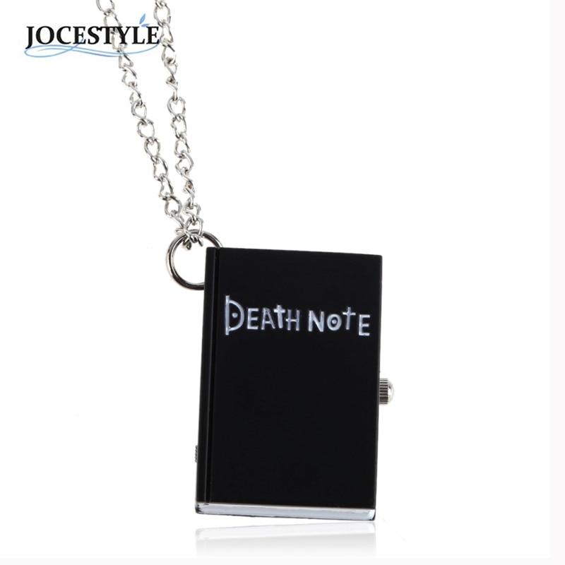Black Bronze Death Note Necklace Classic Fashion Pocket Watch Jewelry for Men Women 40CM relojes hombre
