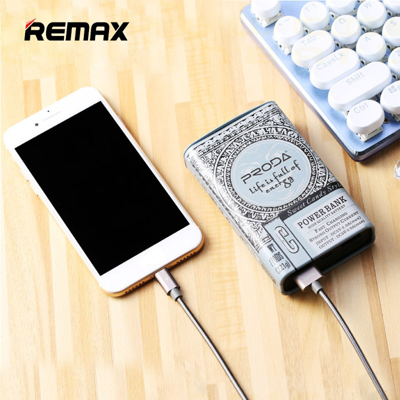 Remax Power Bank 10000mah Dual USB 5V/2A Portable Charging Bateria Externa 18650 Powerbank 10000 For IPhone 8 Xiomi Mi Poverbank