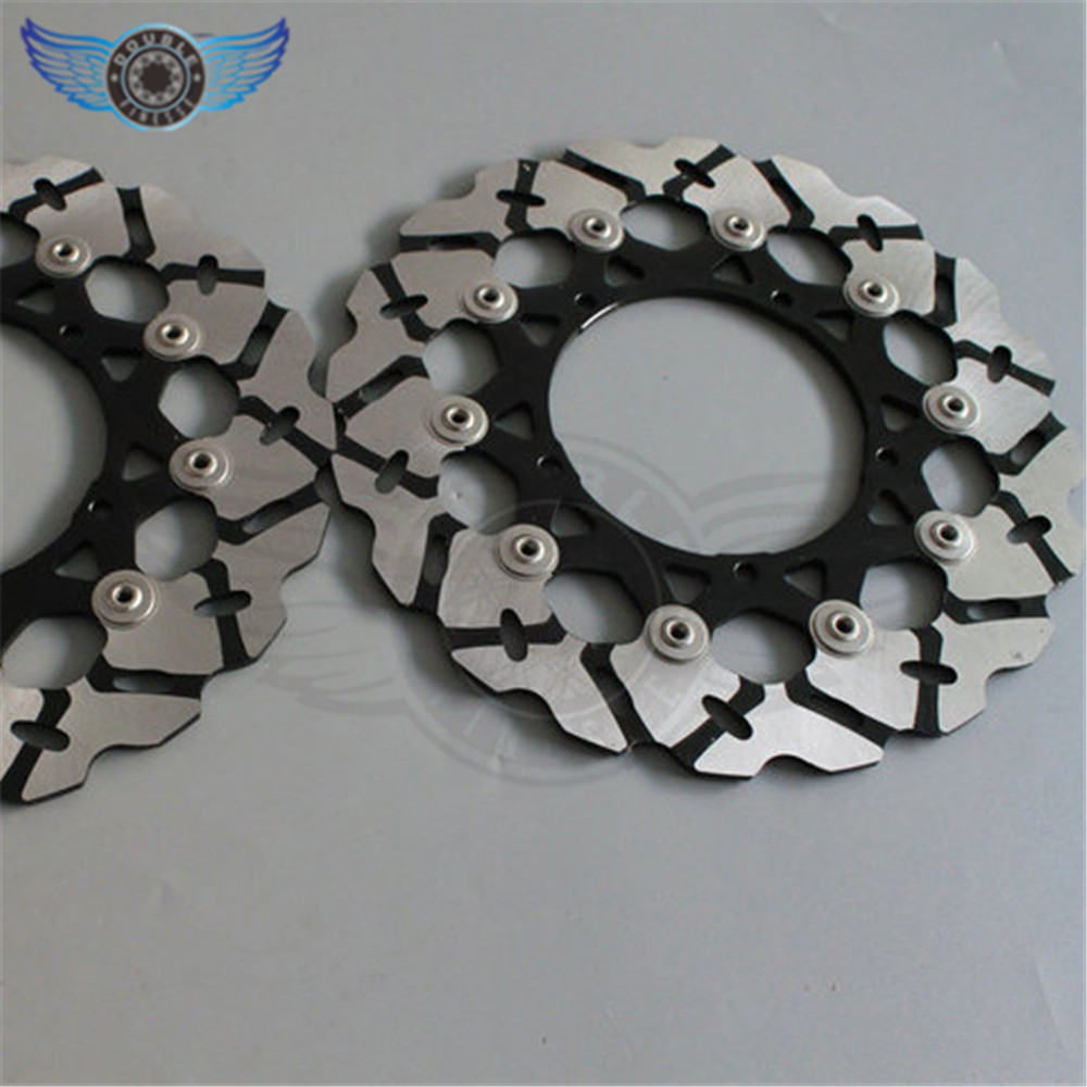 new brand    motorcycle  Front Brake Discs Rotor  For YAMAHA YZF R1 2004 2005 2006 aftermarket free shipping motorcycle parts led tail brake light turn signals for yamaha yzf r1 yzf r1 2004 2005 2006 smoke