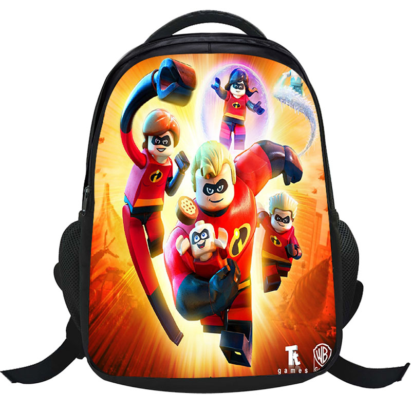 d238f476a9a5 2018 The Incredibles Children Bag School Bags Girls Cartoon Backpack Kids  Character Fashion Schoolbag mochila escolar infantil-in School Bags from  Luggage ...