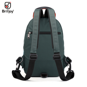 Image 2 - Brilljoy New Men Backpack School Bag Chest Rucksack Bag Military Casual Fashion Male Cross Body One Shoulder Bag Sling Backpack