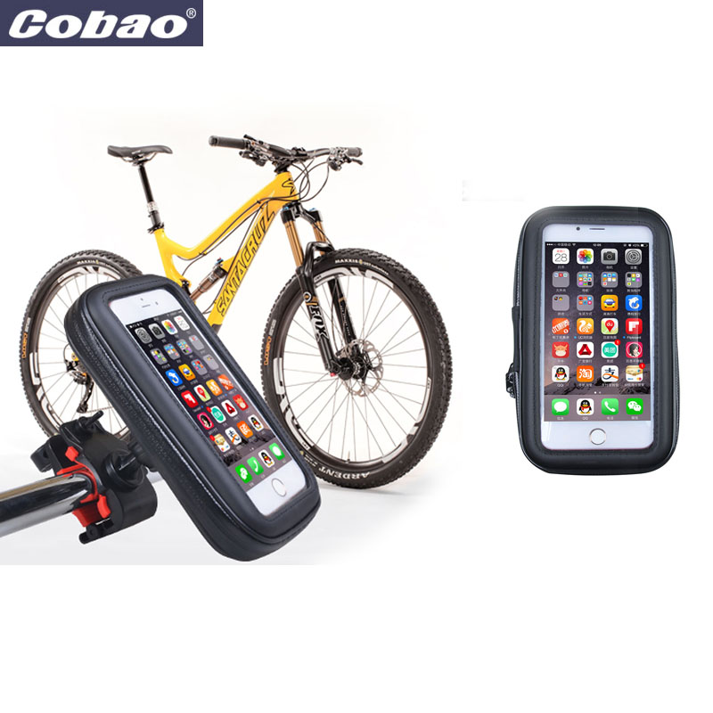 "5.5"" waterproof bicycle phone holder bag handlebar bike"