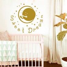 YOYOYU Art Home Decor Moon With The Sun Hug Sleep Sweet Dreams Kid Boy Girl Bedroom Decoration Wall Decal Vinyl Sticker WW-488