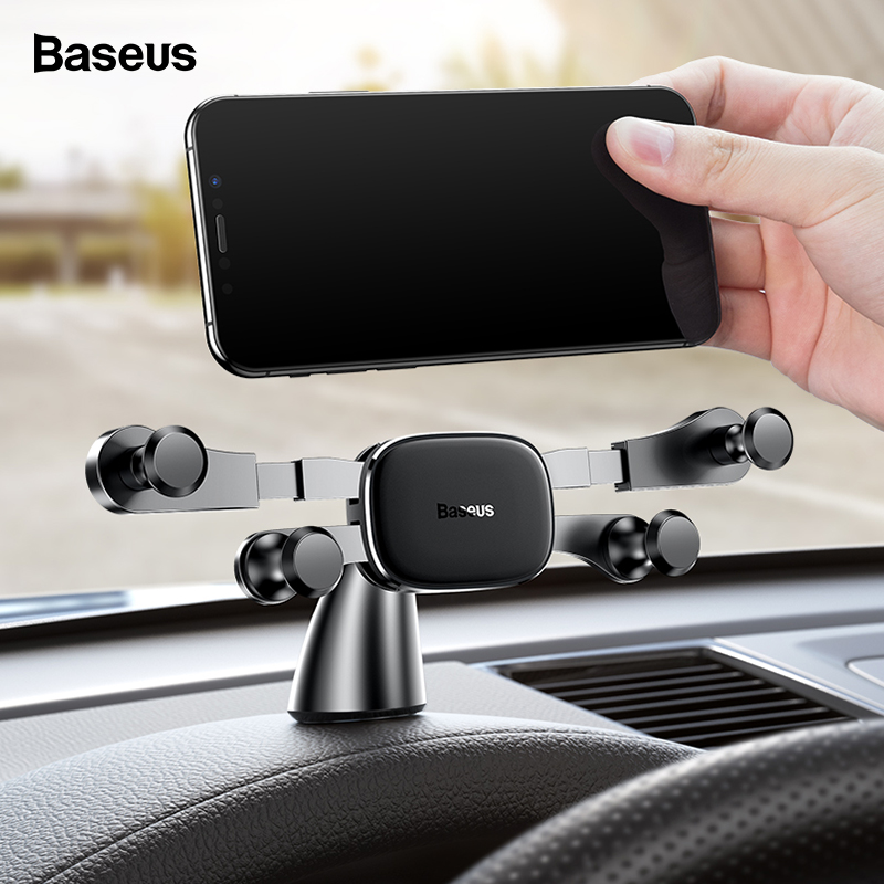 Baseus Dashboard Car Phone Holder For IPhone 11 X Samsung Huawei Xiaomi Gravity Car Holder For Phone In Car Mount Holder Stand