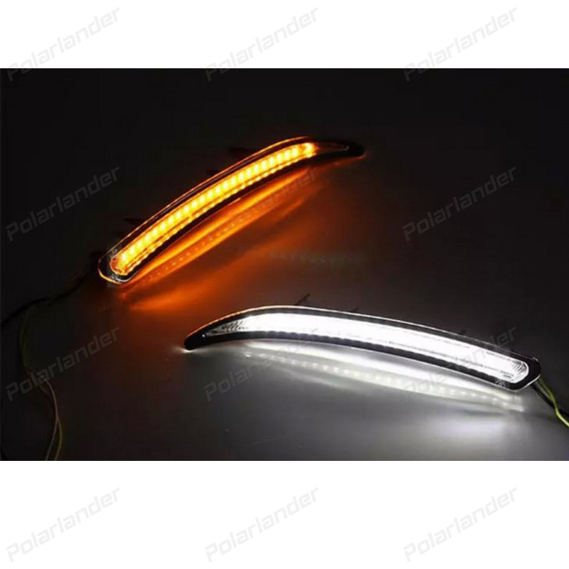 2PCS car-styling Car LED DRL For Buick Regal GS 2008-2013 Fog Cover LAMP me Running Lights Kits 24 leds auto clud car styling for buick regal gs led drl for regal gs led daytime running light high brightness guide led drl b style