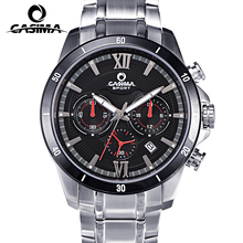 Горячая CASIMA бренд мужской моды спортивные часы люкс классический многофункциональный мужчины кварцевые часы из нержавеющей стали водонепроницаемый #8301