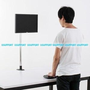 Image 3 - Süper yüksek masaüstü Sit Stand 17 27 inç monitör tutucu paslanmaz çelik TV askısı standı sütun yükseklik 90cm yükleme 10kgs