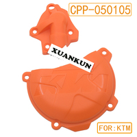 XUANKUN Off Road Motorcycle KTM 250 350 11 15 Clutch Protection Cover Water Pump Protective Cover