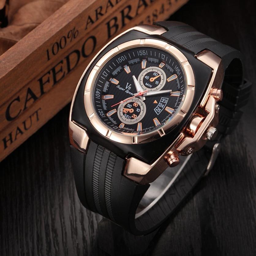 2018 Best sale Fashion Mens Thin Silica Gel Students Sports Quartz Watch clock luxury casual male wrist watches gentlemen gift