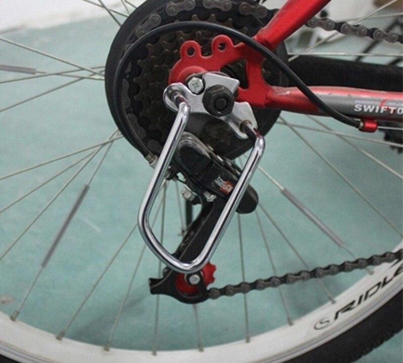 1 pièce réglable en acier noir vélo VTT arrière dérailleur chaîne garde garde protecteur extérieur cyclisme accessoires