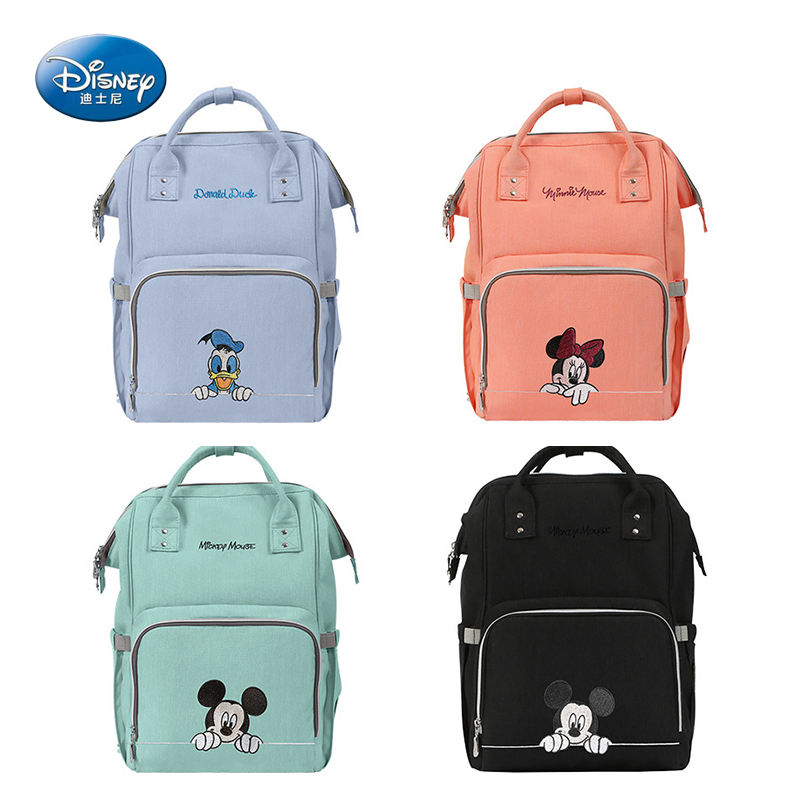 Disney Baby Diaper Bags For Mummy Maternity Baby Care Bag For Stroller Nappy Bag Organizer Multi-function Waterproof Outdoor