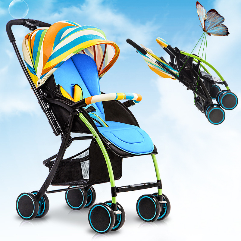 Amere baby car child cart two-way light folding baby four-wheel car umbrella portable shock absorbers baby stroller babyruler ultra light portable four wheel shock absorbers child summer folding umbrella cart