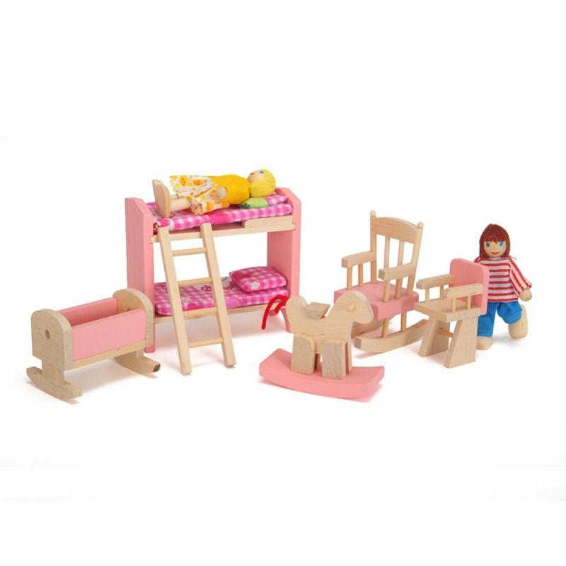 venta caliente de madera litera mueca casa de muebles para nios juego de diseo de
