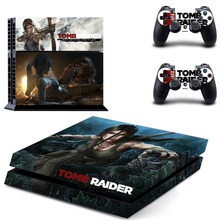 Rise of Tomb Raider PS4 Skin Sticker Decal Vinyl for Sony Playstation 4 Console and 2 Controllers PS4 Skin Sticker