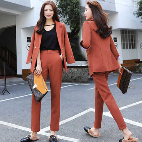 US $35 99 41% OFF|Aliexpress com : Buy Fall fashion suit suit female career  suit jacket and long sections temperament casual two piece pants tideThe