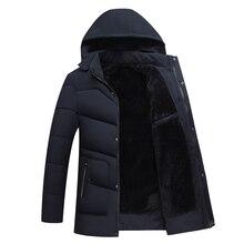Mannen kleding 2019 herren jacken חורף חם מעילי גברים, מעילי אופנה, למטה מעילים ארוכים מעילים