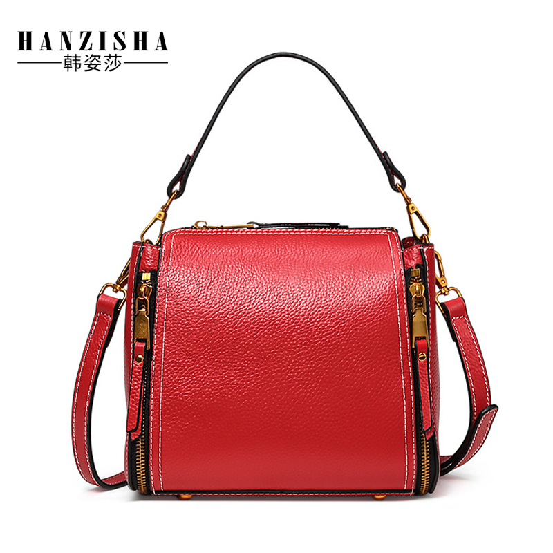2018 New Brand Fashion Natural Cow Leather Women Bag Luxury Design Lich Satchels Women Shoulder Bag Zipper Female Messenger Bag nucelle brand new design fashion drawstring gemstone lock zipper cow leather casual women lady backpacks shoulders school bag