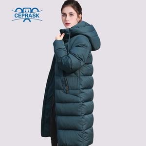Image 3 - CEPRASK 2020 nowa pogrubienie kurtka zimowa kobiety Parka Plus rozmiar 6XL długi modny damski płaszcz zimowy z kapturem ciepła ocieplana kurtka