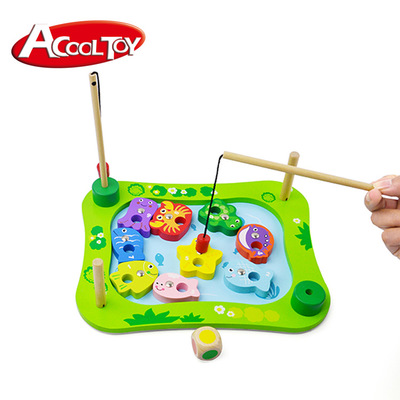 Baby Educational Toys Wooden Fish Toy Magnetic Fishing Toy Set Game Outdoor Oyuncak Birthday Christmas Gifts For Children Games wooden toy beads orbit game children s educational toys interesting gift free fall movement montessori