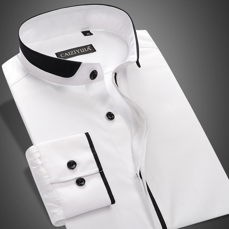 Compare Prices on Mandarin Collar White Shirt- Online Shopping/Buy ...