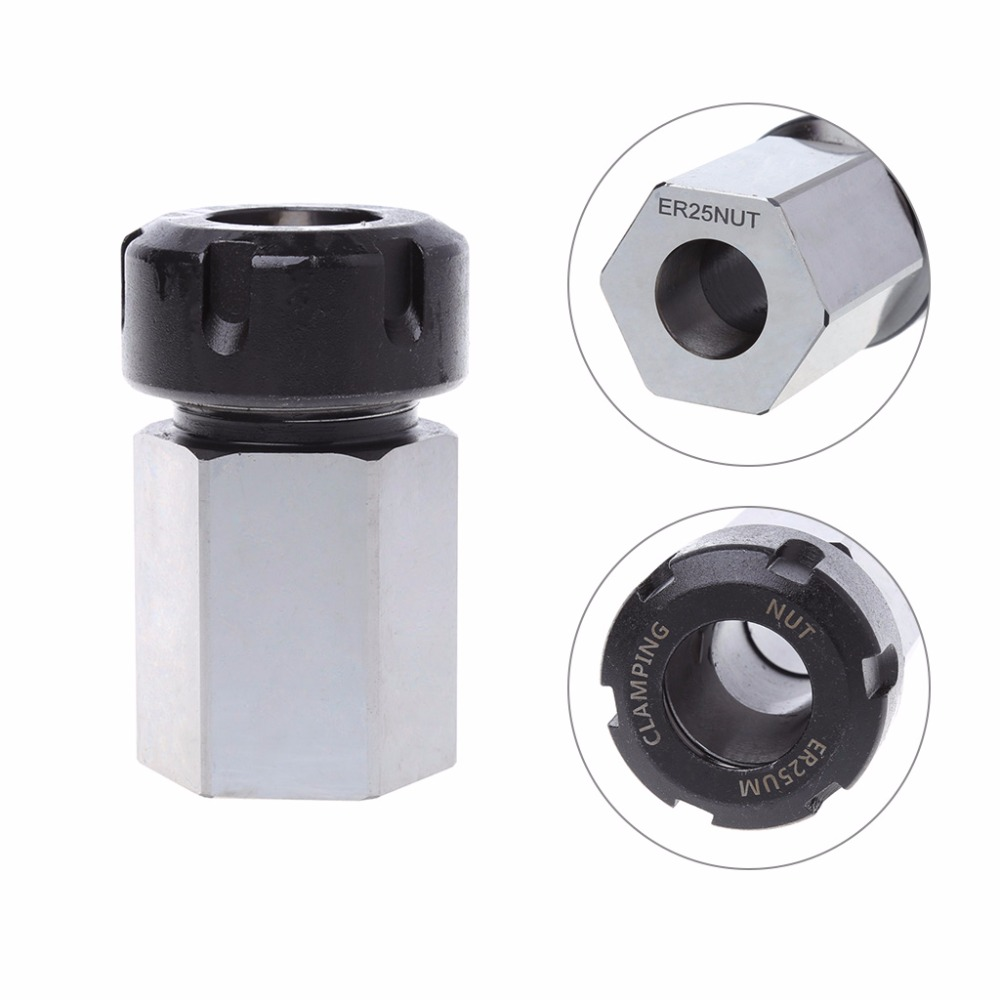 Hex ER-25 Collet Block Spring Chuck Collet Holder 3900-5127 For Latch Engraving Machine 1pc er 32 square collet chuck block holder 3900 5124 hard steel 45x65mm for cnc lathe engraving machine
