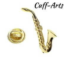 Lapel Pin For Men Gold Saxophone  Pride Brooch Hijab Pins Enamel Broche Pusheen by Cuffarts P10227