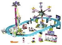LEPIN Amis Parc D'attractions Montagnes Russes Blocs de Construction Classique Pour Fille Enfants Modèle Jouets Marvel Compatible Legoe