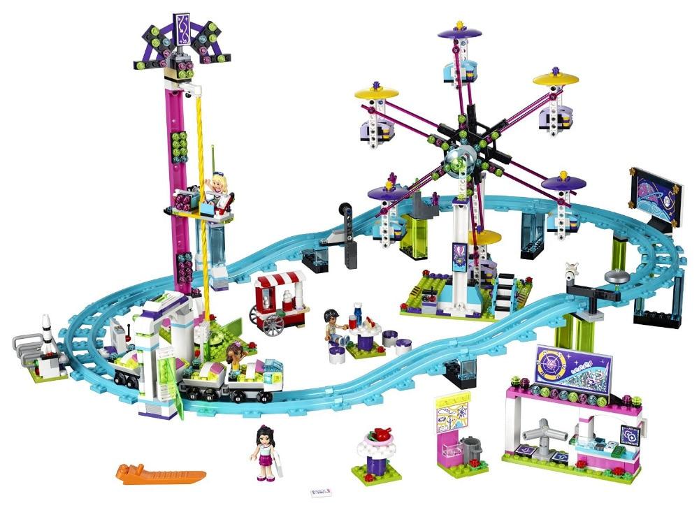 LEPIN Friends Amusement Park Roller Coaster Building Blocks Classic For Girl Kids Model Toys Marvel Compatible