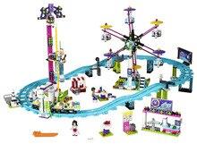 LEPIN Friends Amusement Park Roller Coaster Building Blocks Classic For Girl Kids Model Toys  Marvel Compatible Legoe
