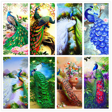 5D Diamond Embroidery Anmial Peacock Cross Stitch DIY Diamond Painting landscape Diamond Mosaic rhinestones Home Decor love gift(China)