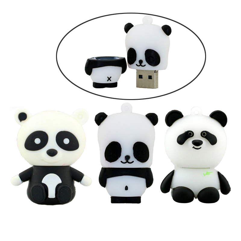 Cartoon Animal Panda Usb Flash Drive Pen Drive 4GB 8GB 16GB 32GB 64GB Pendrives U Disk Flash Card Memory Stick Storage Cute Gift